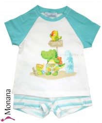 Mayoral Baby-Set T-Shirt & Bermudas Surfing Animals<br>Größe: 74