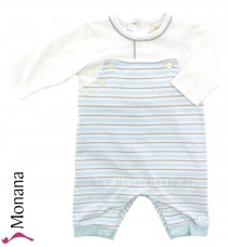 Emile et pink baby pyjama light blue