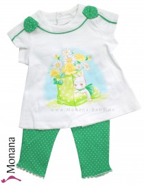 Mayoral Kindermode-Set T-Shirt & Leggings Bunny<br>Größe: 62, 68