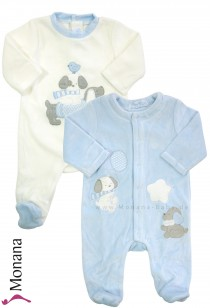 Mayoral Baby-Nicki-Overall-Set light blue