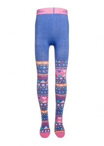 Ewers tights Pippi-Longstocking rose-blau