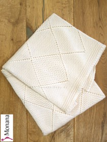 Leipold knitted baby blanket cream Dimensions: ca. 80 x 100 cm <b>Ready for delivery