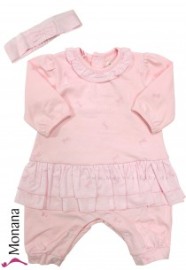 Emile et pink dress pyjama pink with headband