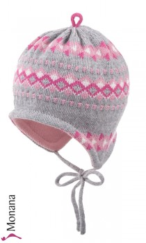 Maximo baby hat gray-pink
