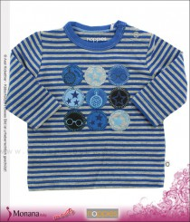 Noppies Baby-Shirt Sir Robert aqua print<br>Größe: 56