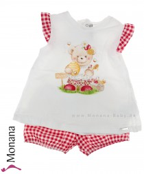 Mayoral Kindermode-Set T-Shirt & Shorts Honigbär<br>Größe: 80, 92