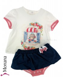 Mayoral baby set t-shirt & skirt with panties