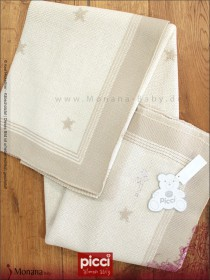 Picci wool blanket Diamante cream*** for cot bed Dimensions: 45,7 x 62,9 inch (ca. 116 x 160 cm) <b>Ready for delivery