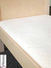 Leipold fitted sheet toweling for cot bed color: cream <b>Ready for delivery