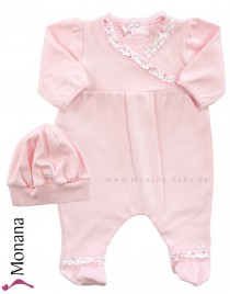 Emile et pink Overall pink with new born hat