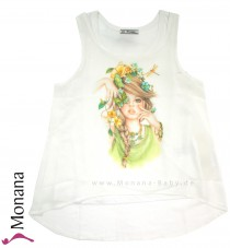 Mayoral t-shirt without sleeves girl with butterfly