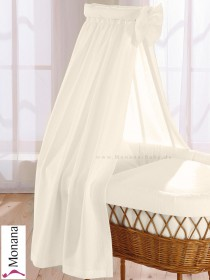 Leipold fabric veil for wicker crib in Wendy beige