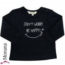 Kanz Shirt marine Don´t worry Be happy<br>Größe: 62, 68, 74, 80, 86, 92