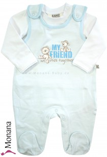 Kanz Baby-Strampler hellblau & Shirt My Friend we stick together<br>Größe: 44, 56, 62