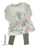 Mayoral Kindermode-Set Kleid & Leggings Romantik<br>Größe: 116