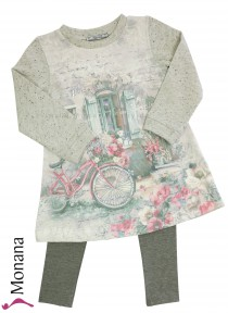 Mayoral child fashion set dress & leggings Romantik