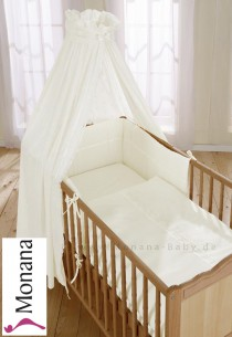 Leipold bed linen for cot bed in Noblesse beige*** <b>Ready for delivery
