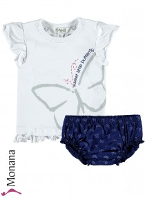 Kanz child fashion set t-shirt & shorts Happy Butterfly