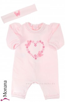 Emile et pink Overall pink with headband