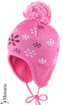 Maximo Kindermütze pink with Bommel