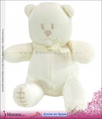 Emile et pink Kuschel-Bär cream Mit Quitsche <b>Ready for delivery