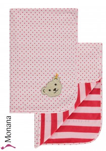 Steiff Collection Babydecke Wellness Wear rosa<br>Maße: 65 x 95 cm<br><b>Sofort lieferbar</b>