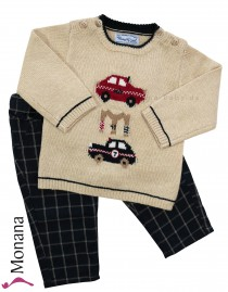Mayoral baby set Karo-Hose & sweater cars