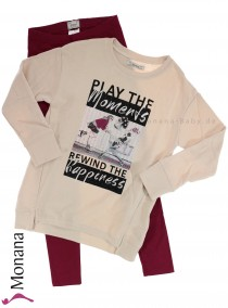 Mayoral child fashion set shirt & leggings Happiness