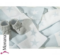 Dilibest by Picci wool blanket Matisse greige for crib/ stroller <b>Ready for delivery