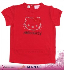 Manai T-Shirt Hello Kitty rot<br>Größe: 80, 86