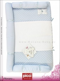 Picci changing mat Coco light blue Dimensions: 19,7 x 31,5 inch (ca. 50 x 80 cm) <b>Ready for delivery