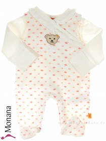 Steiff Collection Baby-Strampler & Baby-Shirt Flower Garden<br>Größe: 50, 56, 62, 68, 74