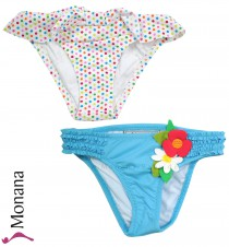Mayoral swimming trunks Double pack turquoise & dots