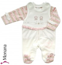 Jacky Nicki-Strampler & Baby-Shirt Mini Princess ecru<br>Größe: 68