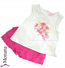 Mayoral Babyset t-shirt & shorts flowers