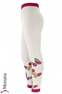 Maximo leggings white butterflies