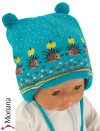 Maximo Baby-M�tze Igel t�rkis<br>Gr��e: 39, 41, 43, 45, 47