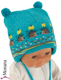 Maximo Baby-M�tze Igel t�rkis<br>Gr��e: 39, 43, 45, 47