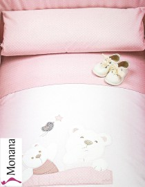 Picci bed linen for cot bed Mod. 12 Mami pink