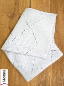 Leipold knitted baby blanket blue Dimensions: ca. 80 x 100 cm <b>Ready for delivery
