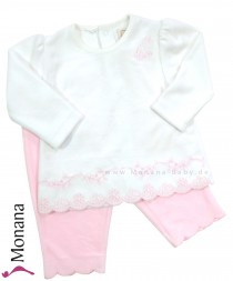 Emile et pink two-pieces Babyset with Nicki-Shirt & Nicki-Hose