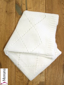 Leipold knitted baby blanket white Dimensions: ca. 80 x 100 cm