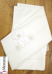 Dilibest by Picci baby blanket for cot bed Mousse cream <b>Ready for delivery