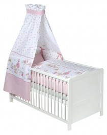 Zöllner Baby-Bettset Happy Animals rosa<br><b>Sofort lieferbar</b>
