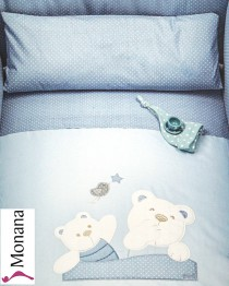 Picci bed linen for cot bed Mod. 12 Mami blue <b>Ready for delivery