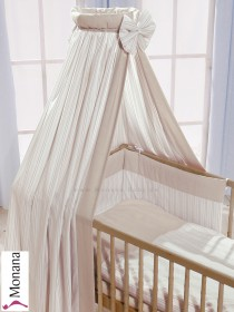 Leipold veil for cot bed in Cappuccino