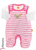 Steiff Collection Baby-Strampler & Baby-Shirt  Summer Colors pink<br>Größe: 50, 62