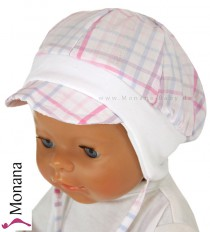 Maximo Baby-M�tze Karo wei�-pink<br>Gr��e: 41