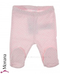 Kanz baby trousers with foot Little Cat pink
