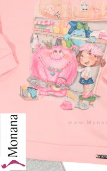 Mayoral Kindermode-Set Shirt & Glitzerleggings Monster im Schrank<br>Größe: 80, 86